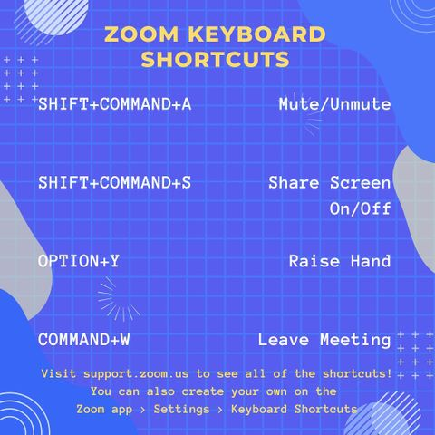 Want to make Zoom even easier? Check out all of the shortcuts or make your own in your Zoom app settings. #TLCTips