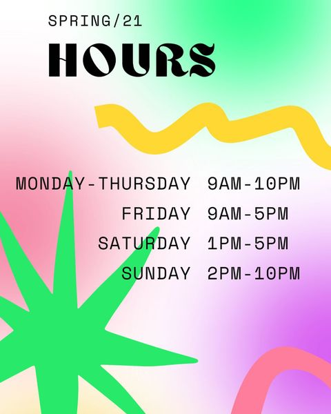 Visit the TLC during these hours this semester for tech & software help! #TLCTips