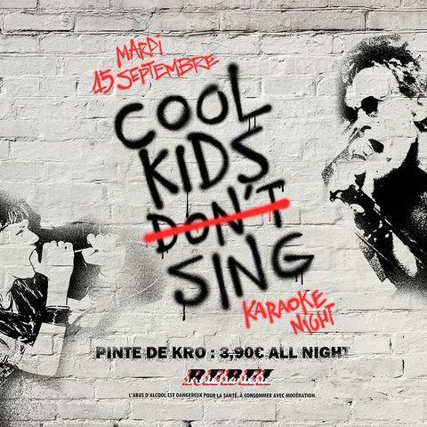 【COOL KIDS SING】🎤🤘⠀  Fini de chanter sous la douche ou dans votre voiture lors des bouchons, le MARDI 15 SEPTEMBRE à 21H00 le O'Sullivans Rebel Bar lance son premier Karaoké ! Au #OSullivansChatelet c'est #KaraokeNight. 🎤 En prime, la Pinte de KRO est au prix de 3,90€ toute la nuit, de quoi vous donner du courage pour chanter 🍻 Alors, qui est chaud ?