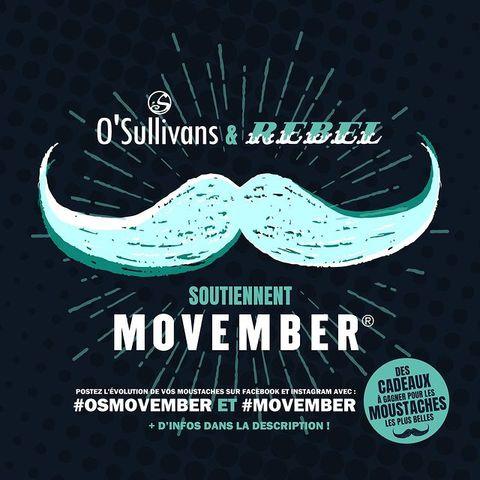 [CONCOURS] 🎁 GET YOUR MOUSTACHE READY ❗️ ⠀ Vous connaissez le #Movember ? Car il n'est jamais trop tard pour soutenir une bonne cause et vous occuper pendant le confinement, le #OSullivansChatelet et #OSullivansPigalle s'associent tout le mois de novembre pour vous challenger ! 👀 ⠀ .⠀ Comment participer ? ✨⠀ .⠀ Laissez-vous pousser une moustache jusqu'au 30 NOVEMBRE et postez votre évolution sur FACEBOOK ou INSTAGRAM avec #OSMovember et #MOVEMBER ! 🐱  Ceux qui auront réussi à avoir les plus belles moustaches seront récompensé ! 🌟  Et pas de panique pour ceux qui n'ont pas de pilosité, nous cherchons surtout l'originalité : #GlitterMoustache #MoustacheEnPapier, #MoustacheDeChat, #PornStache, #CuirMoustache, .... on accepte toutes vos idées 👋 ⠀ .⠀ ➡️ Retrouvez toutes les informations et lots à gagner en cliquant sur le lien en barre d'info ! Et pour en savoir plus sur le #Movember2020 c'est sur https://buff.ly/2CC6BLW