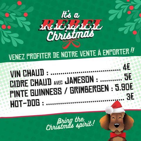 [VENTE A EMPORTER] Fatigué.e.s de faire les cadeaux de Noël? Envie d'une pose ? ✨ Ca tombe bien le #OSullivansChatelet vous attend ce week-end du Vendredi 18 Décembre au 20 Décembre, pour une vente à emporter spéciale #Noel2020 ! ☃️⠀ ❄️ VIN CHAUD - 4€⠀⠀ ❄️CIDRE CHAUD - 5€⠀⠀ ❄️ PINTE GUINNESS / GRIMBERGEN - 5,90€ ⠀⠀ ❄️HOT DOG - 3€⠀ Votre #IrishPub vous attend avec impatience !! Du coup, on voit qui ? 🌟