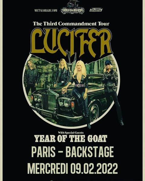 😎 OMG ▪️ Non ça n'est point annulé les amis ! Le plaisir de les voir n'est que reporté. 😍 LUCIFER  #thethirdcommandmenttour : 09.02.2022  @lucifertheband + @yearofthegoatofficial #guest  On a déjà hâte d'y être, et vous ? ▪️  ▪️  #lucifer #garmonbozia #ontour #concert #heavymetal #metal #doom #doommetal #hardrock #rock #occult #occultrock #music #live #livemusic #liveconcert #metalmusic #metalband #metalhead #osullivanspigalle #osullivansbackstagebythemill #backstage #paris #pigalle