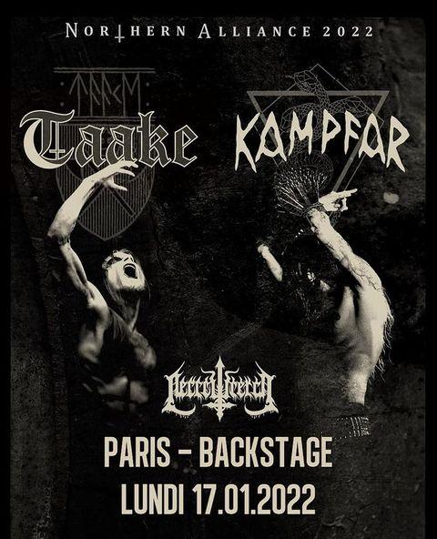 💥 Concert  Une petite update pour tous ceux qui attendent l'événement depuis longtemps !  @taakeofficial + @kampfar_official ➡️17.01.2022 #osullivansbackstagebythemill  🤟  #event  #evenementiel #metalconcert #metalmusic #music #metalband #metalheads #show  #spectacle  #blackmetalmusic  #blackmetal  #paris #paris18  #norway  #northern #liveconcert