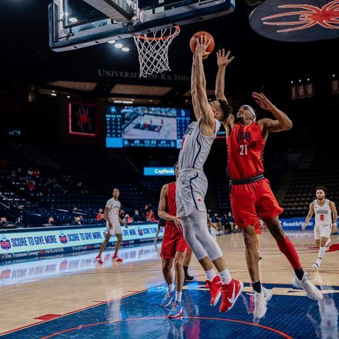 Saturday Spider Hoops Sweep.  When the Spiders win, you win! Get 50% off your @papajohnscva order using promo code URSPIDERS  #OneRichmond