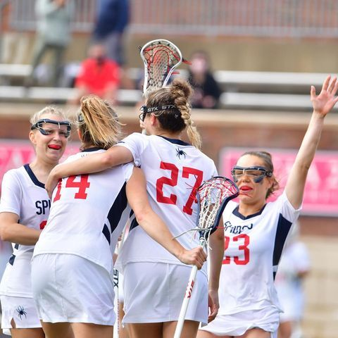 Sent 'em back to Broad Street with a L 😤  @spiderwlax took down VCU 14-8 at Robins Stadium yesterday. The game was dedicated by both teams to @morgansmessage, which strives to end the stigma of mental health for student athletes 🦋  #OneRichmond