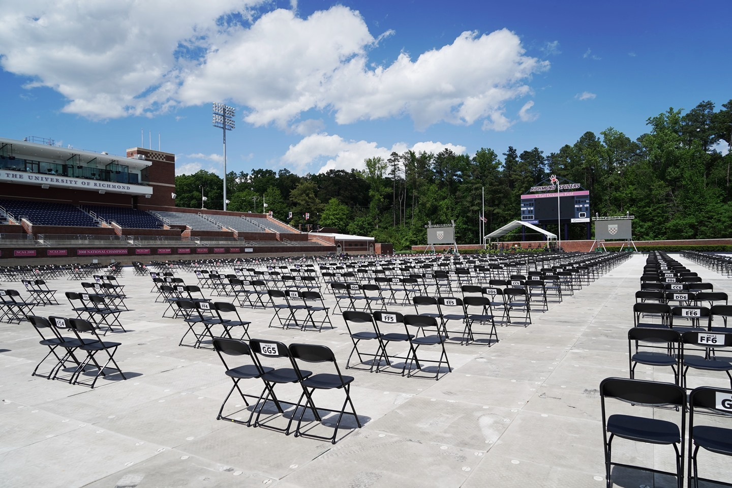 Can't wait to see these chairs filled with our #Richmond2021 graduates tomorrow!