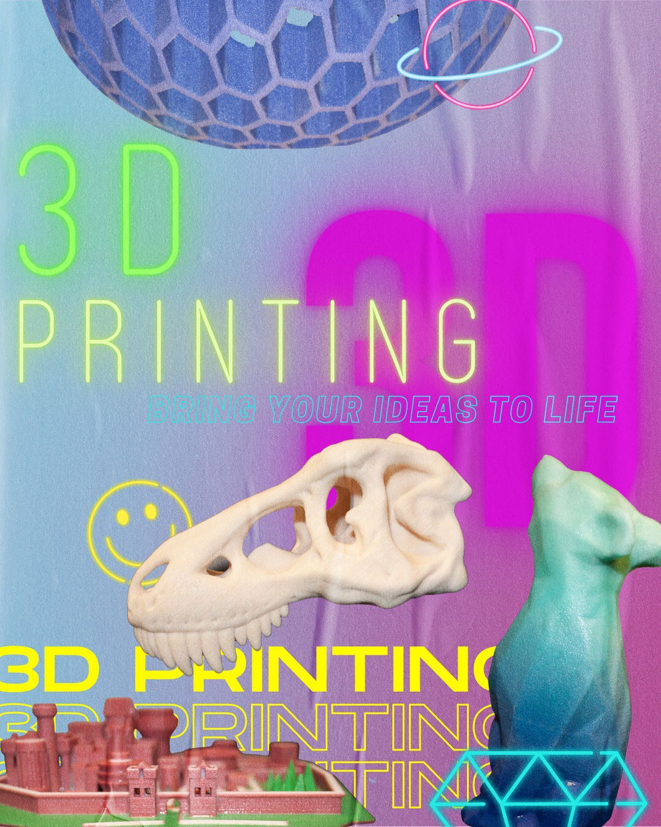 Book an appointment to print a 3D model or learn how to create your model at the TLC 🖥 #TLCTips ➡️ link in bio