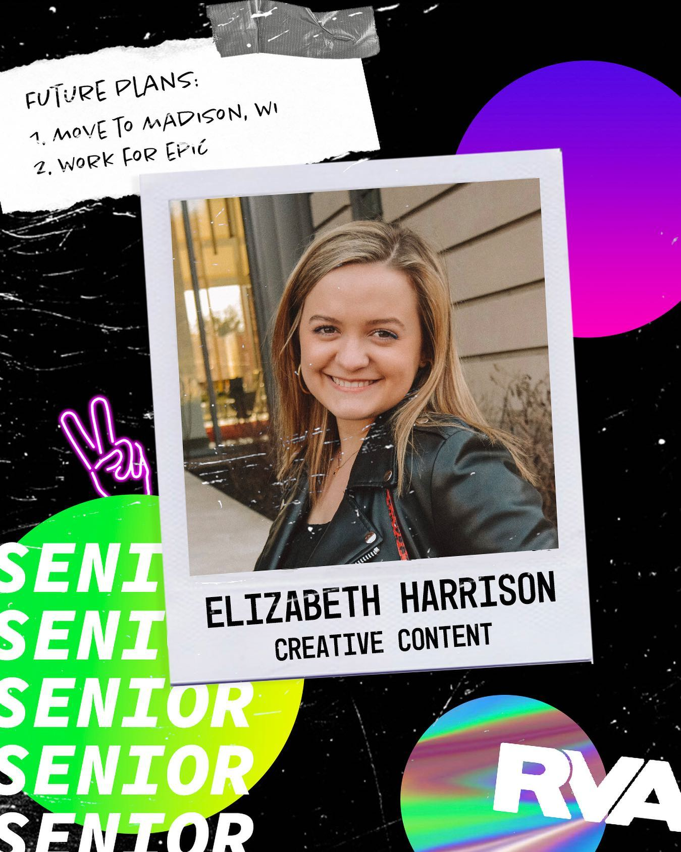 SENIOR SPOTLIGHT 🔦 Elizabeth is graduating with a BA in Global Studies & Business Administration! Have fun in Madison, WI! #TLCSeniors