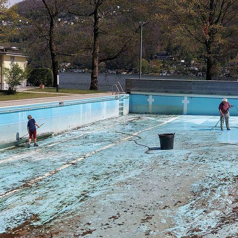 AUCH DER POOL IST BALD STARTKLAR😎 #centromagliaso #pool#sommer#ferien#ferieninderschweiz #tessin #ferienzentrum#swisslodge #schwimmen