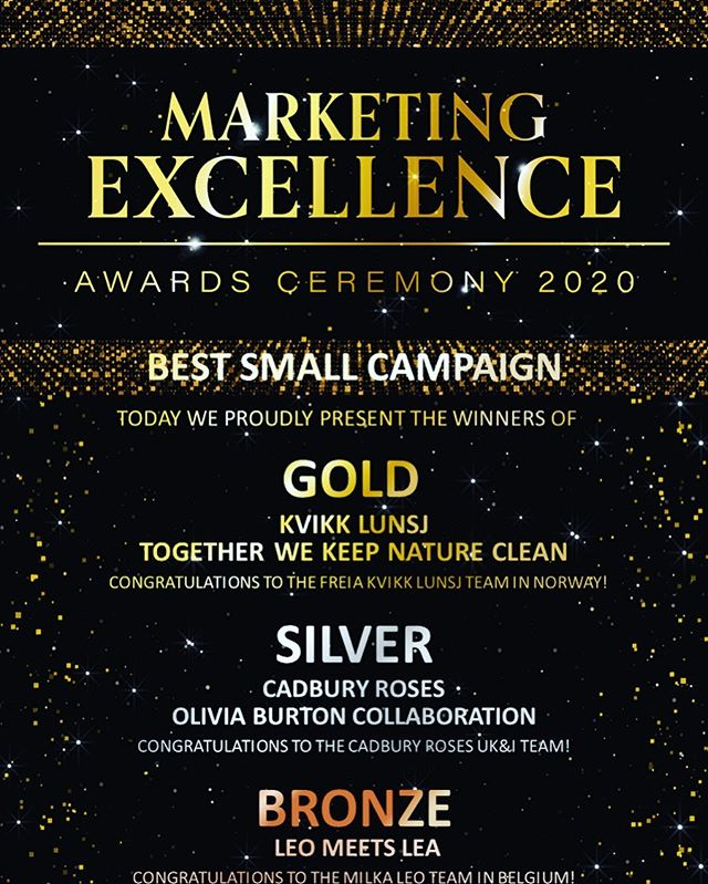 In these times it feels good to get awarded by our beloved client Mondelez International #butikcando #butikagency