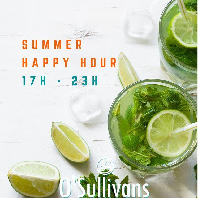 🍻 Notre #happyhour passe à l'horaire d'été. Venez en profiter ! / Enjoy our new summer happy hours all summer long ! 🙌⠀ ⏰ Tous les jours de 17H à 23H ! / Everyday from 5PM to 11PM ! ⠀ 🍺 Pintes à partir de 5€ ⠀ 🍸Cocktails - 8€ / Cocktails sans alcool - 6€⠀ 🍹Mojito - 8€⠀ ⠀ #osgb #osullivans #grandsboulevards #paris #parisian #bar #irishbar #apero #happyhour #summer #ete #fridaynight #fridayfeeling