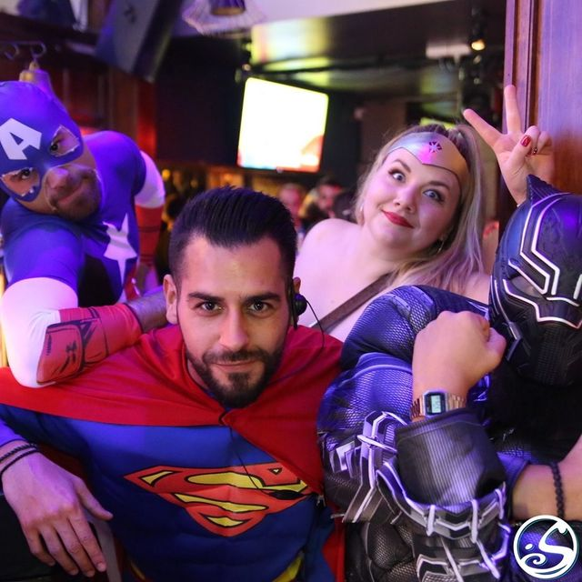 🦸♂️ AVENGERS, ASSEMBLE! 🦸♀️ - -  🤫 Don't tell anyone, but we are secretly superheroes! #aprilfools ! 🤪 #tbt to our All Heroes Party this time two years ago! ⏰ Time flies when your saving the world one drink at a time! 🥃 💥What superpower do you wish you could have ?  - -  #osgb #osullivans #memories  #party #irish #irishpub #irishbar #bar #bartenders #barman